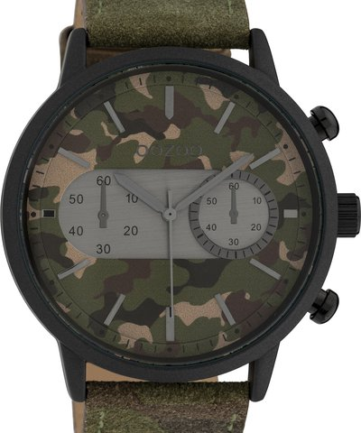 Oozoo Timepieces XXL Camo Leather Strap
