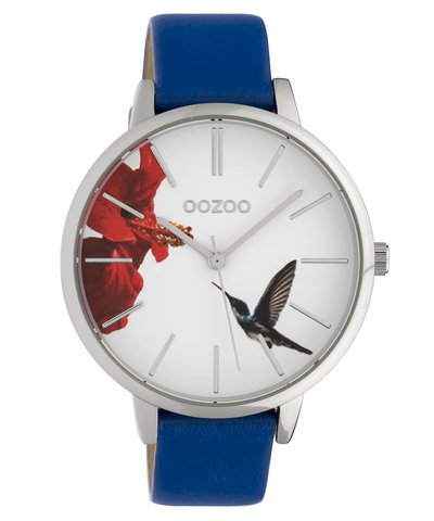 OOZOO Timepieces Limited Blue Leather Strap