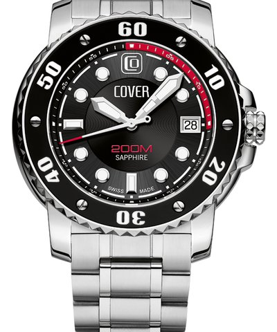 COVER Diver Silver Stainless Steel Bracelet