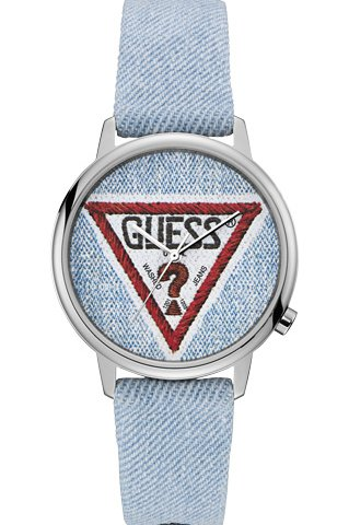 GUESS Light Blue Leather Strap